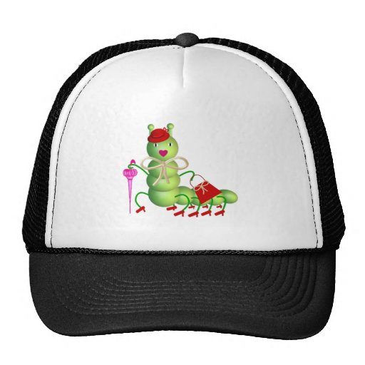 Green Lady Worm Mesh Hats
