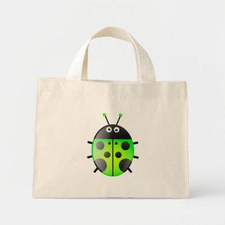 Green Ladybug Mini Tote Bag