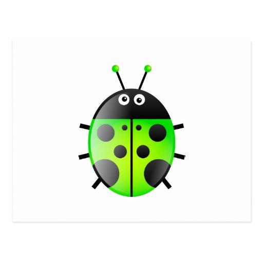 Green Ladybug Post Card