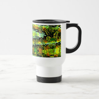 Green Lagoon Romance : Waves n Spectrum Stainless Steel Travel Mug