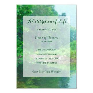 Green Lake Celebration of Life Memorial Invitation