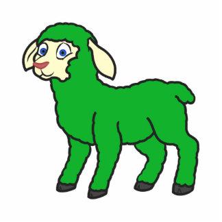 Green Lamb Photo Sculpture Magnet