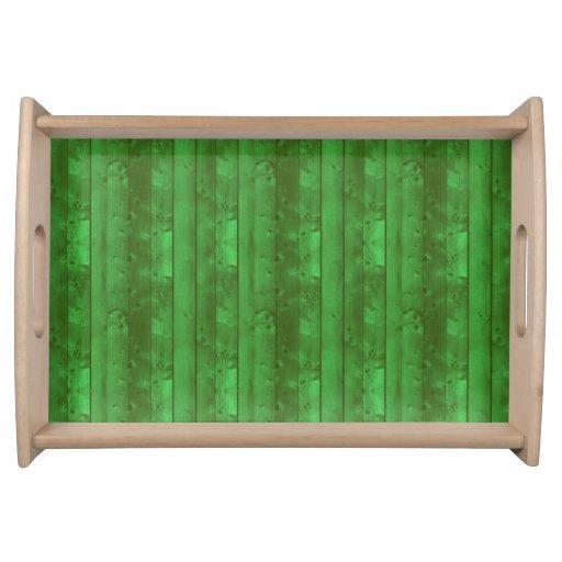 Green Laminate Food Trays