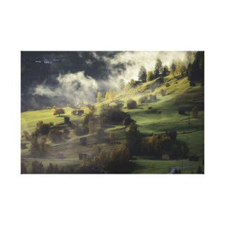 Green landscape canvas print