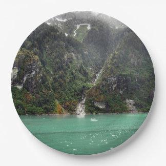 Green Landscape Paper Plate