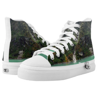 Green Landscape Shoes Printed Shoes