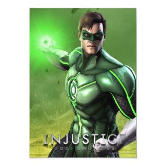 Green Lantern 13 Cm X 18 Cm Invitation Card