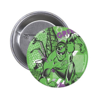 Green Lantern - Absurd Collage Poster 6 Cm Round Badge