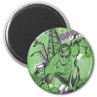 Green Lantern - Absurd Collage Poster 6 Cm Round Magnet