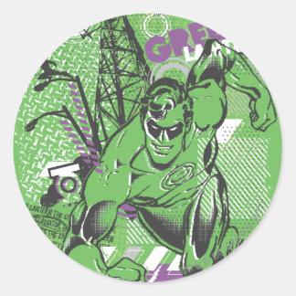 Green Lantern - Absurd Collage Poster Classic Round Sticker