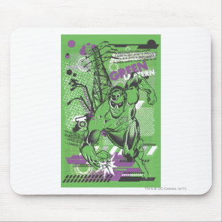 Green Lantern - Absurd Collage Poster Mouse Mat