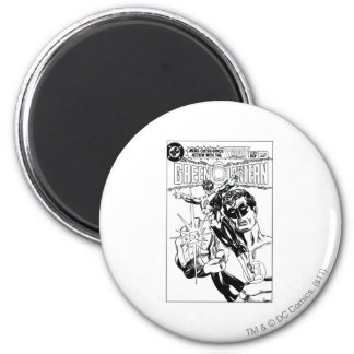 Green Lantern - Action Comic Cover, Black and Whit 6 Cm Round Magnet