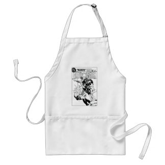 Green Lantern - Action Comic Cover, Black and Whit Apron