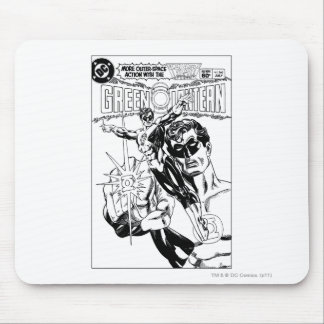 Green Lantern - Action Comic Cover, Black and Whit Mouse Mat