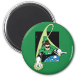 Green Lantern and Earth 6 Cm Round Magnet