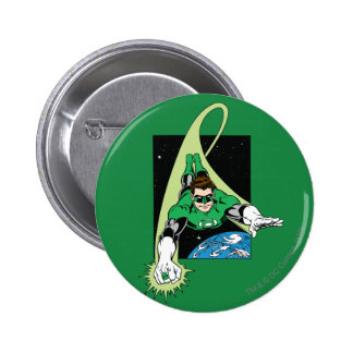 Green Lantern and Earth 6 Cm Round Badge