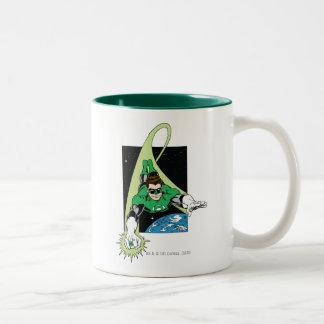 Green Lantern and Earth Coffee Mug