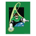 Green Lantern and Earth Postcard