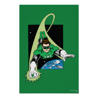 Green Lantern and Earth Poster