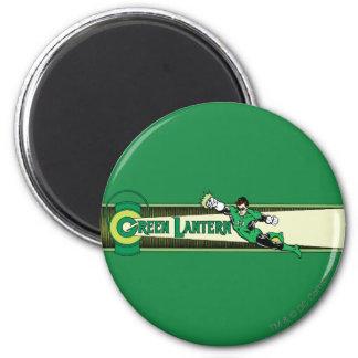 Green Lantern and Logo 6 Cm Round Magnet