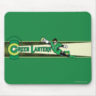 Green Lantern and Logo Mouse Pad