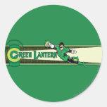 Green Lantern and Logo Round Sticker