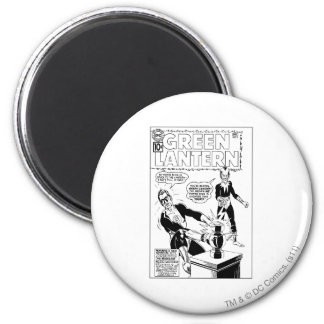 Green Lantern and Sinestro Cover, Black and White 6 Cm Round Magnet