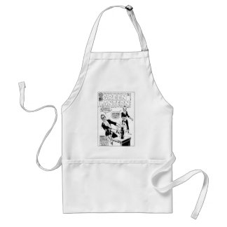 Green Lantern and Sinestro Cover, Black and White Standard Apron
