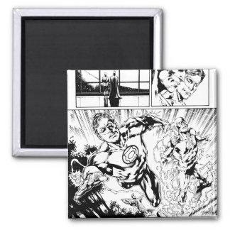 Green Lantern and The Flash Panel 2 Fridge Magnet