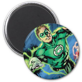 Green Lantern and The Flash Panel 6 Cm Round Magnet