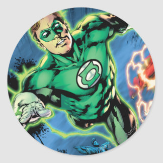 Green Lantern and The Flash Panel Classic Round Sticker