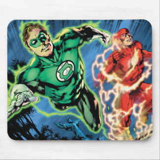 Green Lantern and The Flash Panel Mouse Mat