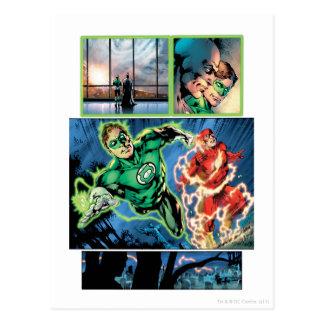 Green Lantern and The Flash Panel Postcard