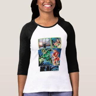 Green Lantern and The Flash Panel T-Shirt