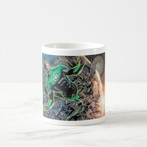 Green Lantern and the Moon Basic White Mug