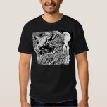 Green Lantern and the Moon - Black and White Tee Shirts