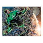 Green Lantern and the Moon Postcard