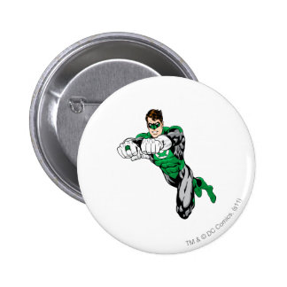 Green Lantern - Both arms forward 6 Cm Round Badge