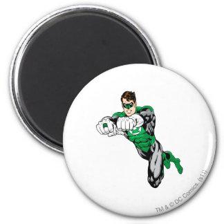 Green Lantern - Both arms forward 6 Cm Round Magnet
