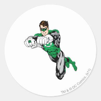 Green Lantern - Both arms forward Classic Round Sticker