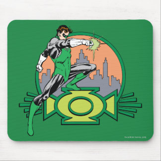 Green Lantern City Background and Logo Mouse Mat