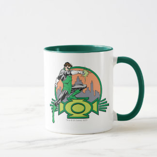 Green Lantern City Background and Logo Mug