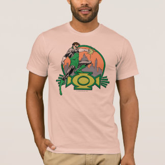 Green Lantern City Background and Logo T-Shirt