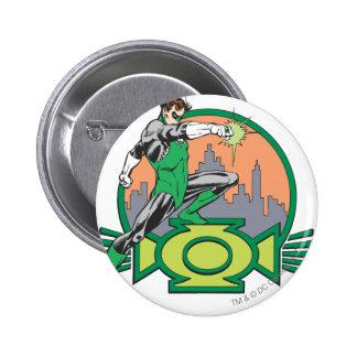 Green Lantern & Cityscape 6 Cm Round Badge