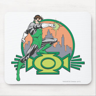 Green Lantern & Cityscape Mouse Pad
