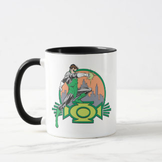 Green Lantern & Cityscape Mug