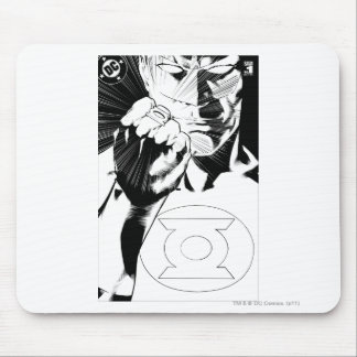 Green Lantern close up cover, Black and White Mouse Pad