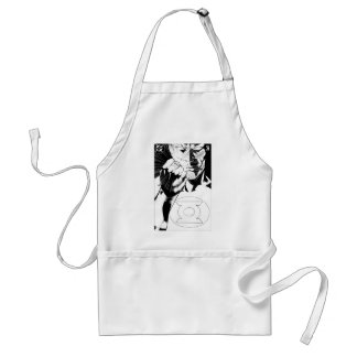 Green Lantern close up cover, Black and White Standard Apron