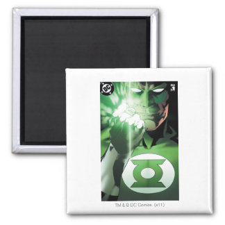 Green Lantern close up cover Square Magnet