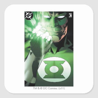 Green Lantern close up cover Square Sticker